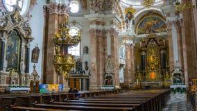 Innsbrucker Dom , second of April 2018 stock image