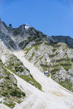 Innsbrucker Nordkette cable car in Austria. Royalty Free Stock Photo