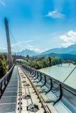 Innsbrucker Nordkette cable railways in Austria. Stock Images