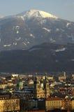 Innsbrucks Mitte Stockbild