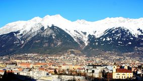 Innsburck City View with Austrian Alps Royalty Free Stock Images
