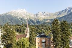 Innsteg bridge in Innsbruck, Upper Austria. Royalty Free Stock Images