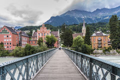 Innsteg bridge in Innsbruck, Upper Austria. Royalty Free Stock Photos