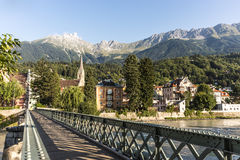 Innsteg bridge in Innsbruck, Upper Austria. Stock Image