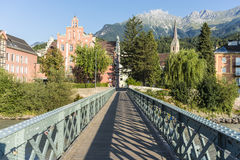 Innsteg bridge in Innsbruck, Upper Austria. Royalty Free Stock Image
