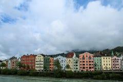 The Innstrasse Inn street in Innsbruck royalty free stock photo