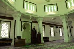 Innterior van Kuala Lumpur Jamek Mosque in Maleisië Stock Afbeelding