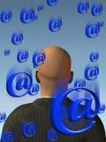 Innundation del email Immagini Stock