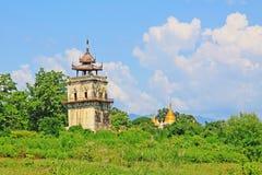 Innwa Nanmyin torn, Innwa, Myanmar Arkivbild