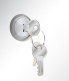 inny kluczowy kędziorka metalu pierścionek Obraz Stock