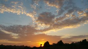 Inny piękny PA wschód słońca Zdjęcie Royalty Free