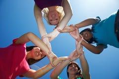 inny target2033_1_ przyjaciela cztery przyjaciela Zdjęcia Royalty Free