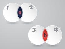 Inographic-Design mit Zellformen Lizenzfreie Stockfotos