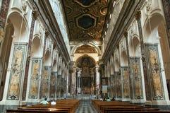 Inom av Amalfi Chatedral Arkivbild