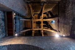 Inom av Belfrieden i Bruegge i Belgien royaltyfri foto