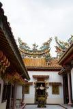 Inom av den kinesiska templet Royaltyfri Bild