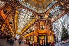 Inom av den Leadenhall marknaden London Fotografering för Bildbyråer
