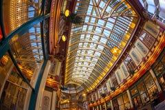 Inom av den Leadenhall marknaden London Royaltyfri Foto