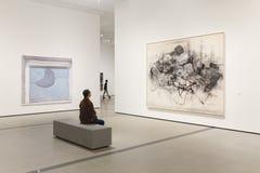 Inom av det brett ett samtida konstmuseum i Los Angeles Arkivbilder