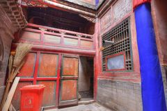 Inom av det tibetana tempelet Fotografering för Bildbyråer