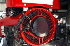 Inom av en brandlastbil Arkivbild