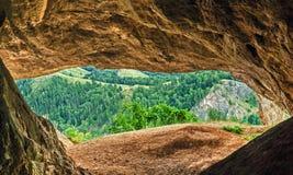 Inom av grottan Royaltyfria Bilder