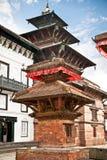 Inom av Hanuman Dhoka gamla Royal Palace i Katmandu, Nepal. Arkivbilder