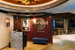 Inom av Hard Rock Cafe royaltyfria bilder