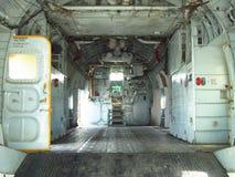 Inom av kabinen på flygplan Arkivfoton