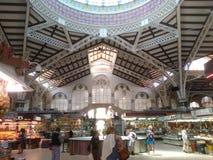 Inom av marknaden av Valencia Spain Arkivbild