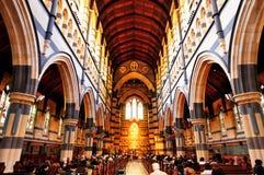 Inom av ST Paul Cathedral Arkivfoton