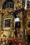 Inom basilikan av vår dam av Guadalupe Mexico - stad Royaltyfri Foto
