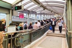 """Inom Centralâ€en """"Mitt--nivåer rulltrappa i Hong Kong Royaltyfria Bilder"""