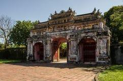 Inom citadellen Imperialistiska Forbidden City Ton Vietnam Fotografering för Bildbyråer