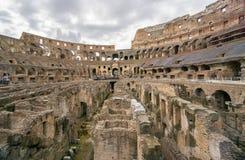 Inom coliseumen Rome, i sommar Royaltyfri Fotografi