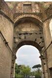 Inom coliseumen Rome, Lazio, Italien Arkivbilder