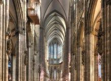 Inom Cologne Dom Nave Royaltyfria Foton