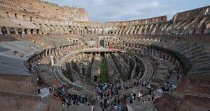 Inom Colosseumen Time-schackningsperiod stock video