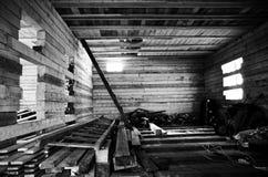 Inom de oavslutade lantliga husen Ryssland Royaltyfri Fotografi