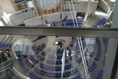 Inom den Bundestag parlamentet Berlin Germany fotografering för bildbyråer