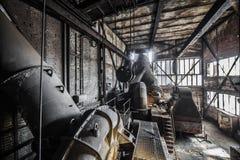 Inom den gamla fabriken Arkivfoton