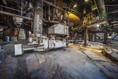 Inom den gamla fabriken Arkivbilder