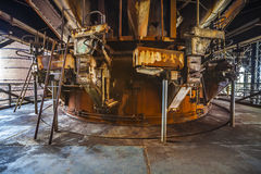 Inom den gamla fabriken Arkivfoto