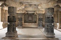 Inom den hinduiska templet Hampi, Indien Fotografering för Bildbyråer
