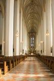Inom den kyrkliga domkyrkan av vår dam Munich Arkivfoton