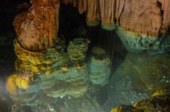 Inom den Luray Caverns grottatunnelbanan i den Virigina Shenendoah dalen Denna är den önskande brunnen royaltyfria bilder