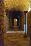 Inom den nya fästningen Korfu Arkivfoto
