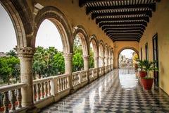 Inom den regerings- slotten för ` s av Yucatan Merida, Yucatan, Mexico Arkivfoto