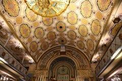 Inom den stora synagogan i Bucharest Rumänien Arkivfoton