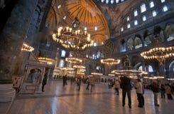 Inom det Aya Sofya museet Istanbul Fotografering för Bildbyråer
